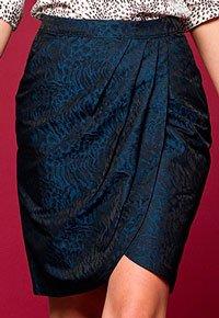 Выкройка юбки с запахом и драпировкой по линии талии