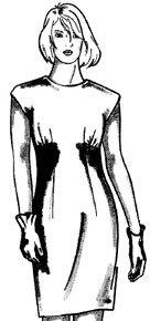 Моделирование платья с подрезом и сборкой под грудью