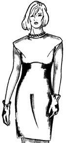 Моделирование платьев путем перевода вытачек и изменения положения основных конструктивных линий