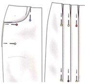 Как пришить подкладку к юбке и юбке-брюки