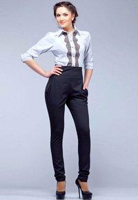 Выкройка узких брюк (брюки-сигареты) с цельнокроеным поясом