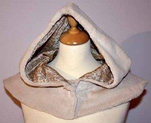 Выкройка капюшона из меха с кокеткой
