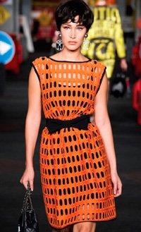 Элегантное платье из трикотажной сетки