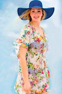 Летнее платье-кафтан