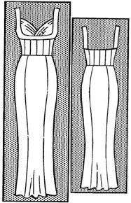 Праздничное платье-корсет со вставкой в области груди