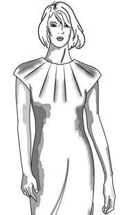 Моделирование платьев путем перевода вытачек
